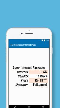 Indonesia Internet Packages screenshot 1