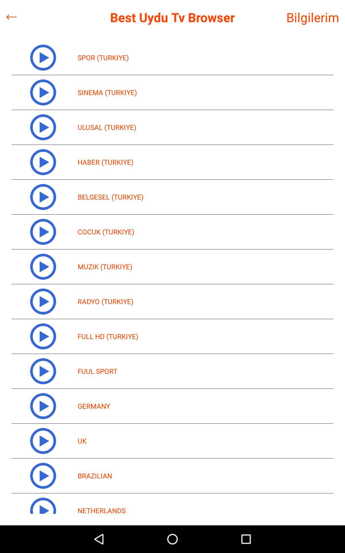 Best Uydu TV Browser for Android - APK Download