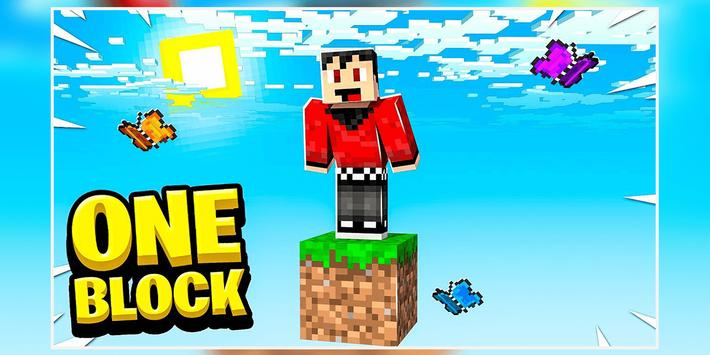 ONE BLOCK CHALLENGE FOR MCPE स्क्रीनशॉट 1