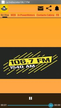La Indiscreta 106.7 FM screenshot 2