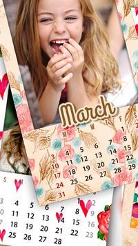 Monthly Photo Calendar 2019 - Calendar Pic Editor screenshot 1