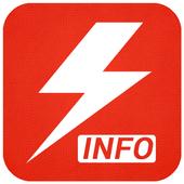 Flash info icône