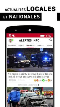 Alertes info: Actualité locale et alerte d'urgence poster