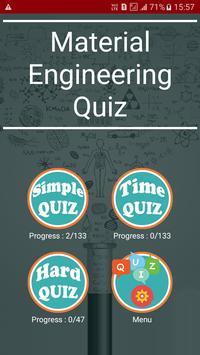 Material Engineering Quiz poster