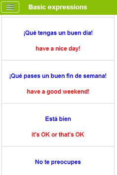 Learn English French Spanish screenshot 7
