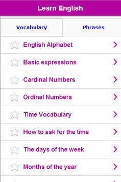 Aprender Inglés gratis captura de pantalla 5