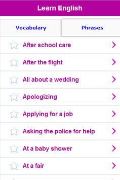 Aprender Inglés gratis captura de pantalla 11