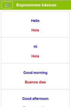 Aprender Inglés gratis captura de pantalla 2