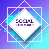 Social Greeting / Invitation  Visiting Card Maker icon