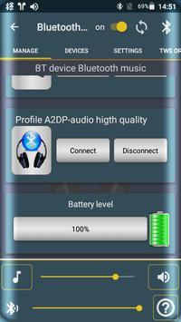 Bluetooth Audio Widget Battery FREE تصوير الشاشة 2