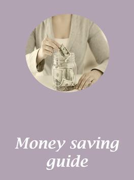 Money saving guide poster