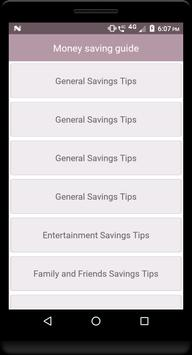 Money saving guide screenshot 1