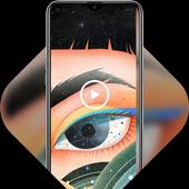 Make-up big eyes girl live wallpaper icon