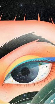 Make-up big eyes girl live wallpaper poster
