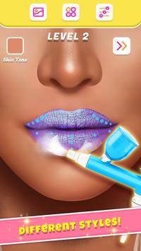 Lip Art Makeup Artist - Relaxing Girl Art Games screenshot 2