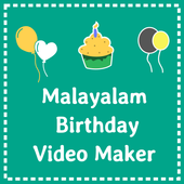 Malayalam birthday video maker icon