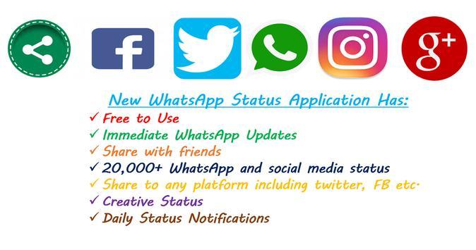New WhatzApp Status poster