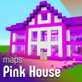 Pink House maps for minecraft pe ikona