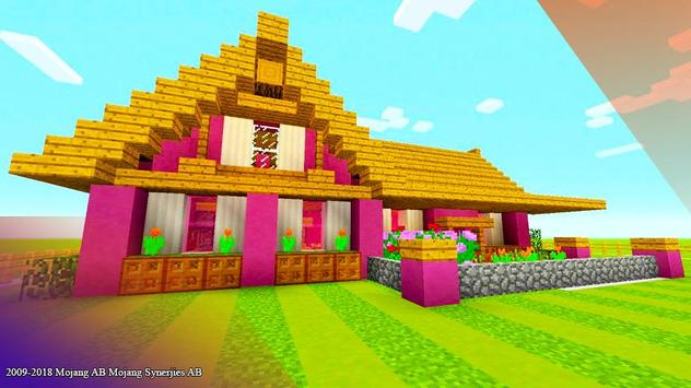 Pink House maps for minecraft pe plakat