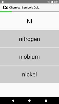 Chemical Symbols Quiz screenshot 1