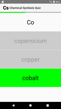 Chemical Symbols Quiz screenshot 2
