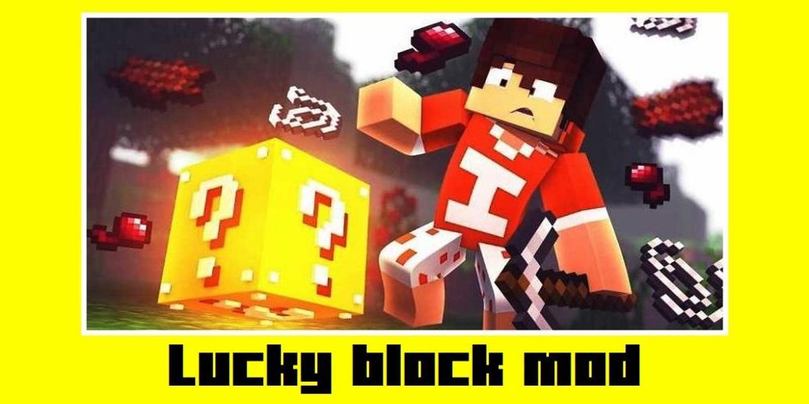 minecraft red lucky blocks