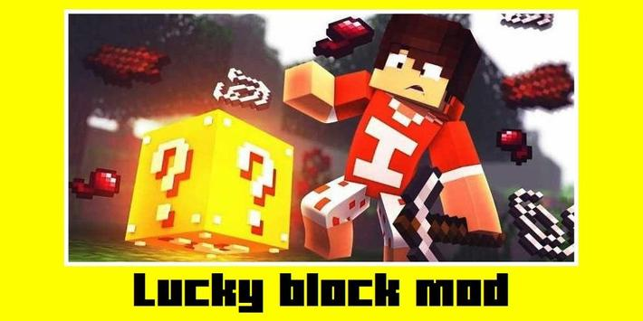 Lucky block mod for Minecraft poster