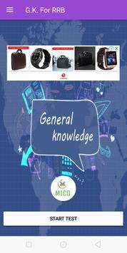 RRB General knowledge test your GK poster