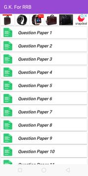 RRB General knowledge test your GK screenshot 2
