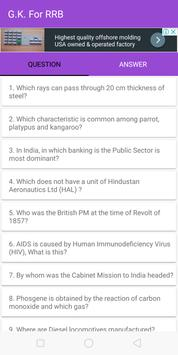 RRB General knowledge test your GK screenshot 3