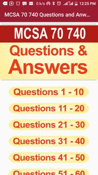 Mcsa 70-740: Mcsa Exam Questions and Answers. poster