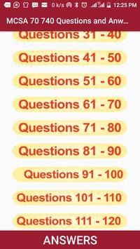 Mcsa 70-740: Mcsa Exam Questions and Answers. screenshot 1
