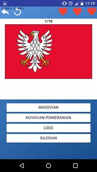 Provinces of Poland - quiz, tests, maps, flags screenshot 1