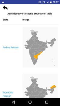 States of India - maps, capitals, tests, quiz screenshot 4