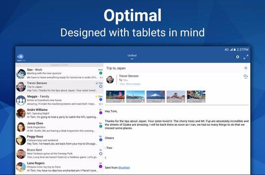 Blue Mail - Email & Calendar App - Mailbox screenshot 9