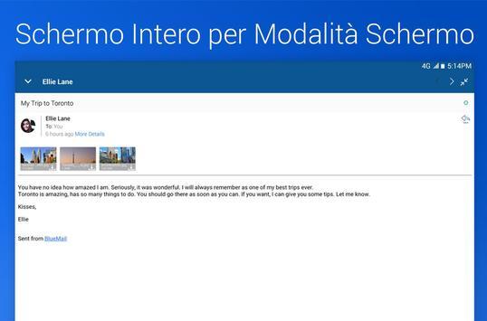 5 Schermata Blue Mail - Email & Calendario App
