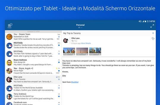 6 Schermata Blue Mail - Email & Calendario App