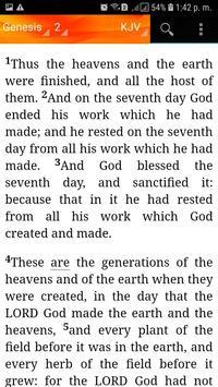 Holy Bible King James Version(KJV) screenshot 1