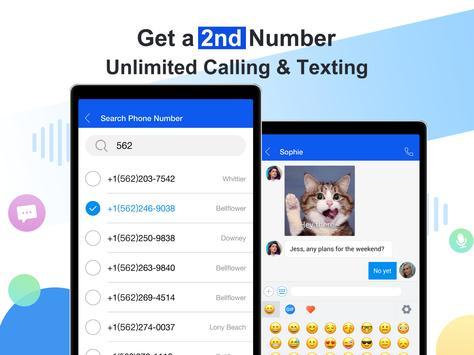 Free phone calls, free texting SMS on free number screenshot 5