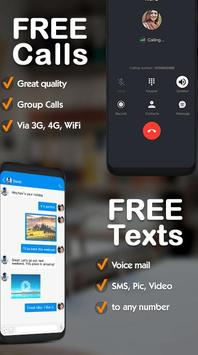 Free phone calls, free texting SMS on free number poster