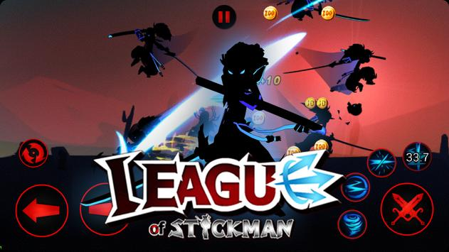League of Stickman 2020- Ninja Arena PVP(Dreamsky) screenshot 5