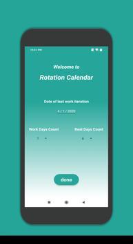 Rotation Calendar poster