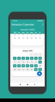 Rotation Calendar screenshot 1
