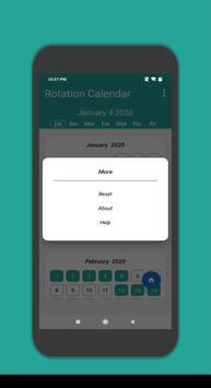 Rotation Calendar screenshot 2