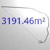 Distance and area measurement icon