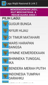 Lagu Wajib Nasional & Lirik 2 screenshot 4