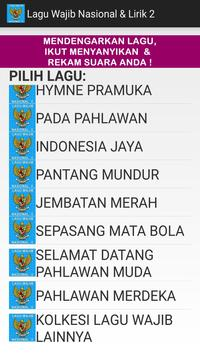 Lagu Wajib Nasional & Lirik 2 screenshot 1