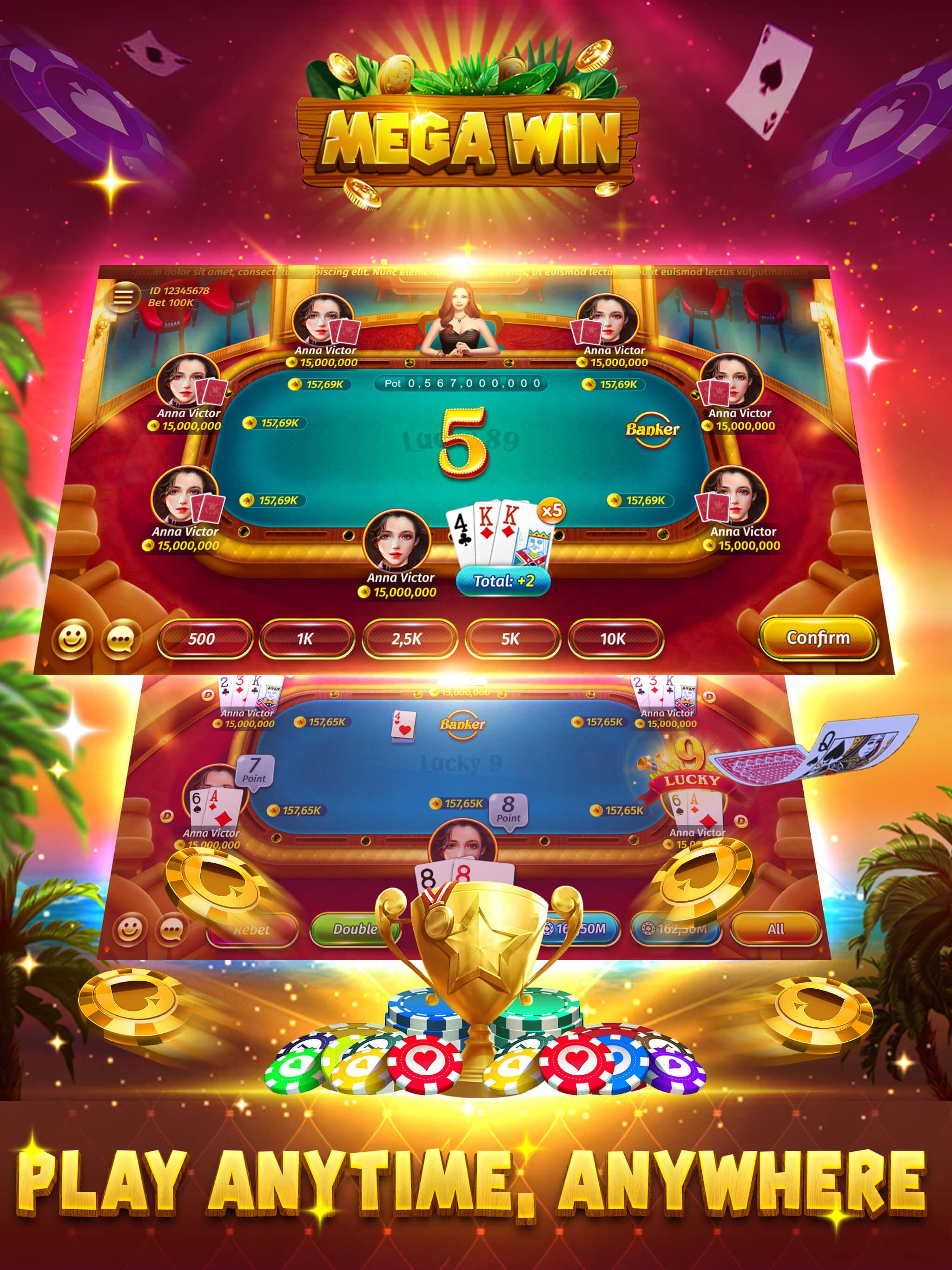 Mega Win Slots Sabong Lucky 9 For Android Apk Download