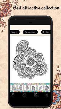 Latest Mehandi Designs - Colour Mehandi  Book 2019 poster