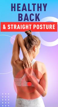 Healthy Spine & Straight Posture - Back exercises poster